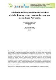 Influência da Responsabilidade Social na decisão de compra - aedb