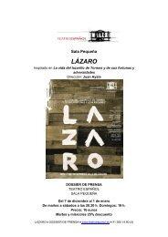 Dossier LÁZARO - Teatro Español