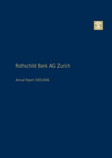 Rothschild Bank AG Zurich - Rothschild | Private Banking & Trust