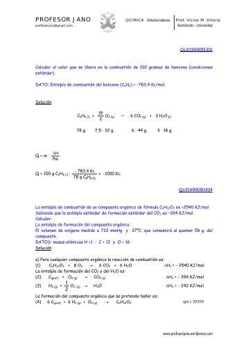 PROFESOR JANO QUIMICA Cálculos básicos Prof. Víctor M