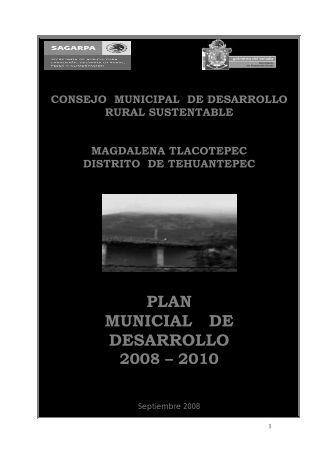 PLAN MUNICIAL DE DESARROLLO - Secretaría de Finanzas