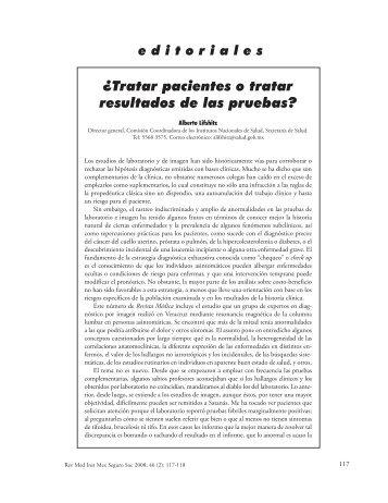 ¿Tratar pacientes o tratar resultados de las pruebas? - Edumed IMSS