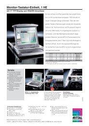 Monitor-Tastatur-Einheit, 1 HE