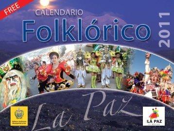 Calendario folklorico - Gobierno Municipal de de La Paz
