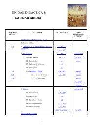 UNIDAD DIDÁCTICA 8: LA EDAD MEDIA - Webquest sobre La ...
