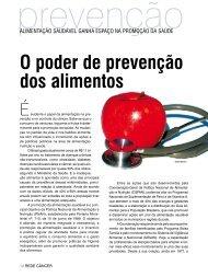 O poder de prevenção dos alimentos - Instituto Nacional de Câncer