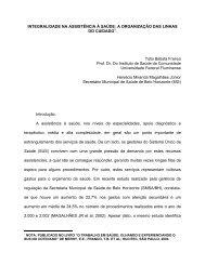 integralidade na assistência à saúde: a organização das ... - UFF