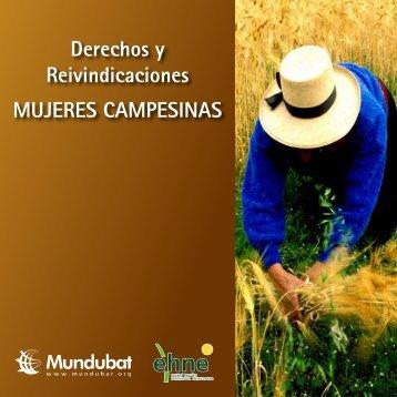 Derechos y Reivindicaciones MUJERES CAMPESINAS - Mundubat