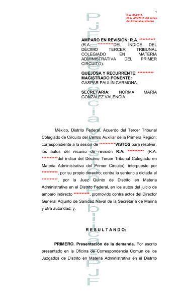 AMPARO DIRECTO: DT - Consejo de la Judicatura Federal