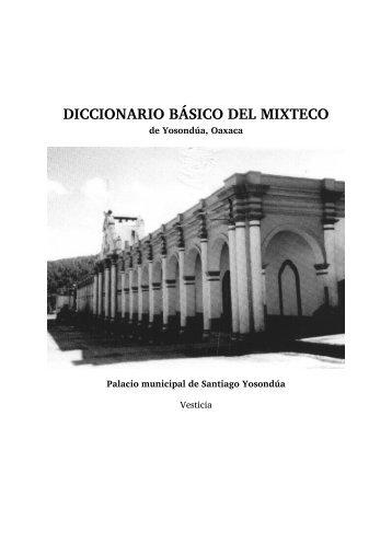 Diccionario básico del mixteco de Yosondúa, Oaxaca