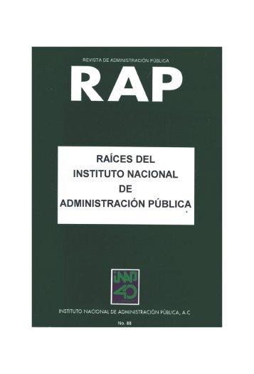 Número 88 - Instituto Nacional de Administración Pública, AC