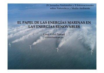 el papel de las energías marinas en las energías renovables