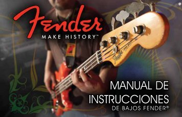 MANUAL DE INSTRUCCIONES - Fender