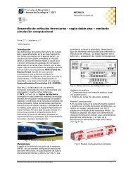 Desarrollo de vehículos ferroviarios - vagón doble piso – mediante ...