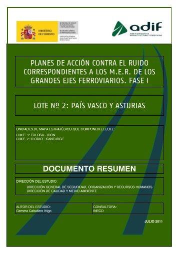 PLANES DE ACCIÓN CONTRA EL RUIDO ... - Adif