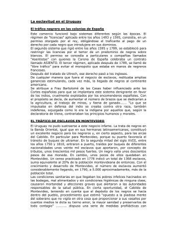 Texto La esclavitud en el Uruguay.pdf - Uruguay Educa