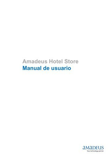 Amadeus Hotel Store Manual de usuario