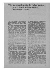 VII. Incomunicación de Helga Merino, por el fiscal militar ad-hoc ...