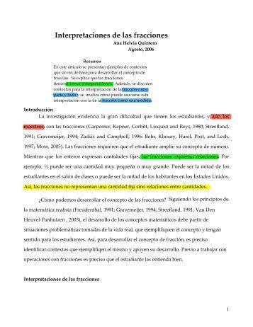 Interpretaciones de las fracciones - Página de Jorge Cotera