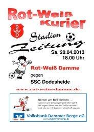 2013.04.20 RW-Kurier Ausgabe 13 - Rot Weiss Damme
