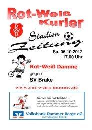 2012.10.06 RW-Kurier Ausgabe 05 - Rot Weiss Damme