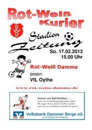 2013.02.17 RW-Kurier Ausgabe 09 - Rot Weiss Damme