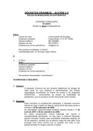SÓCRATES ERASMUS – ACCIÓN 2.2 - Universidade de Santiago ...