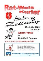 2009.04.20 Sonder-Kurier Frisch Ausgabe 1 - Rot Weiss Damme