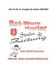 Kurier Ausgabe 12 - Saison 06/07 - 28.04.2007 - Rot Weiss Damme