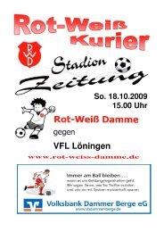 2009.10.18 RW-Kurier Ausgabe 6 - Rot Weiss Damme