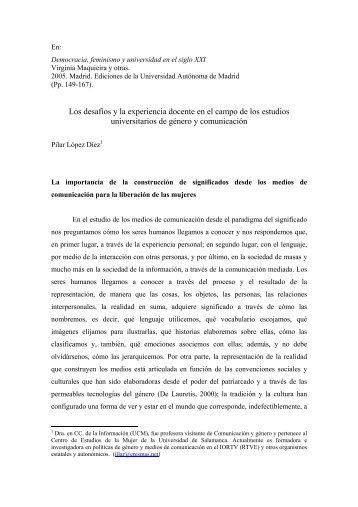 Los desafíos y la experiencia docente en el ... - Pilar López Díez