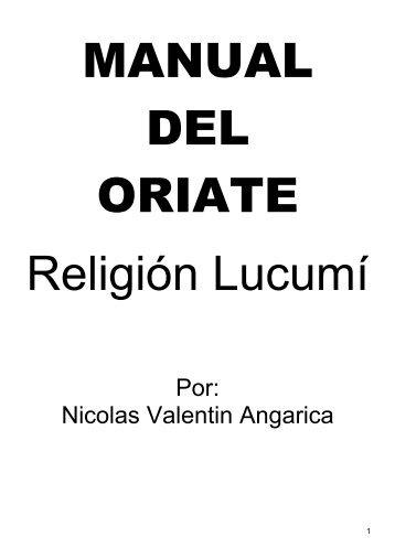 MANUAL DEL ORIATE PDF