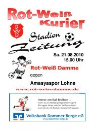 2010.08.21 RW-Kurier Ausgabe 2 - Rot Weiss Damme