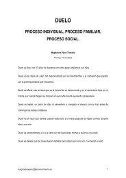 Duelo. Proceso individual, proceso familiar, proceso social ...