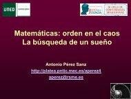 Matemáticas: la búsqueda del orden en el caos - UNED