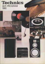 Technics Hi-Fi Program '82 (Danish)