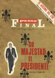 Revista - Punto Final - archivo historico
