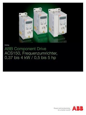 ABB Component Drive ACS150, Frequenzumrichter, 37 bis 4 kw ...