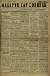 Zondag 3 September 1893. 50- Jaar N» 2599*- Lokeren 2 Sept.