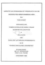Aspekte van uitbranding by predikante van die Nederduitse ...