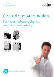 Contactors - GE Industrial Systems