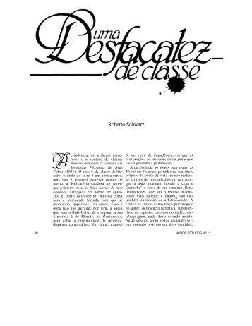 Roberto Schwarz - Revista Novos Estudos