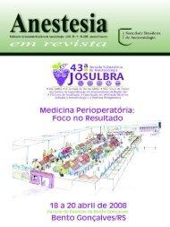 Janeiro/Fevereiro - Sociedade Brasileira de Anestesiologia