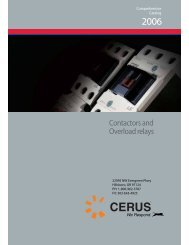 Contactors and Overload relays - Cerus