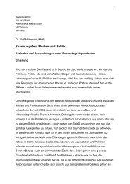 Spannungsfeld Medien und Politik - Dr. Rolf Mützenich MdB
