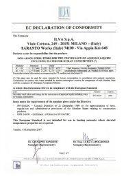 EC Declaration of Conformity - EN 10224-1 - Ilva Taranto
