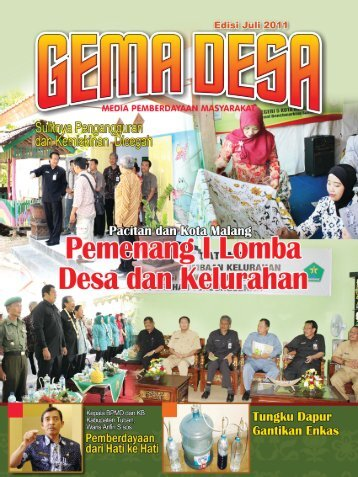 Buletin Gema Desa edisi Juli 2011 - Bapemas Prov Jatim - Jawa Timur