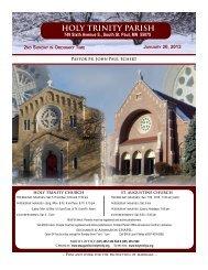 HOLY TRINITY PARISH - Holy Trinity/St. Augustine Catholic Churches