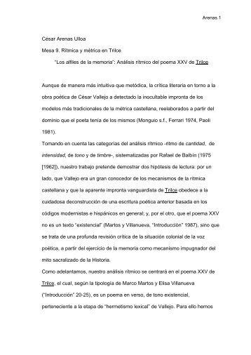"""""""Los alfiles de la memoria"""": Análisis rítmico del poema XXV de Trilce"""