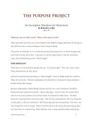 THE PURPOSE PROJECT - Center for Spirituality and Healing